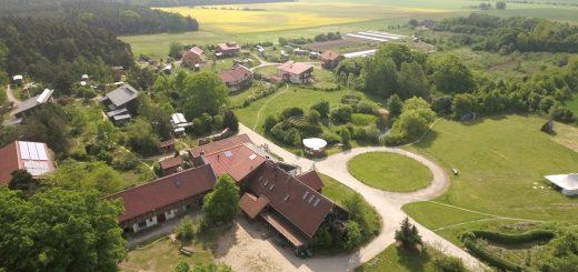 Ökodorf Sieben Linden von oben