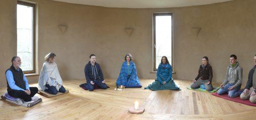 Haus der Stille, Meditationshaus, Innenansicht